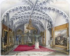 Marmeren voorhal bij de Gotische Zaal, paleis Kneuterdijk, Den Haag