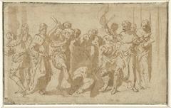 Marteling van de heilige Sebastiaan (?)