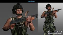 Military Man Character Animation