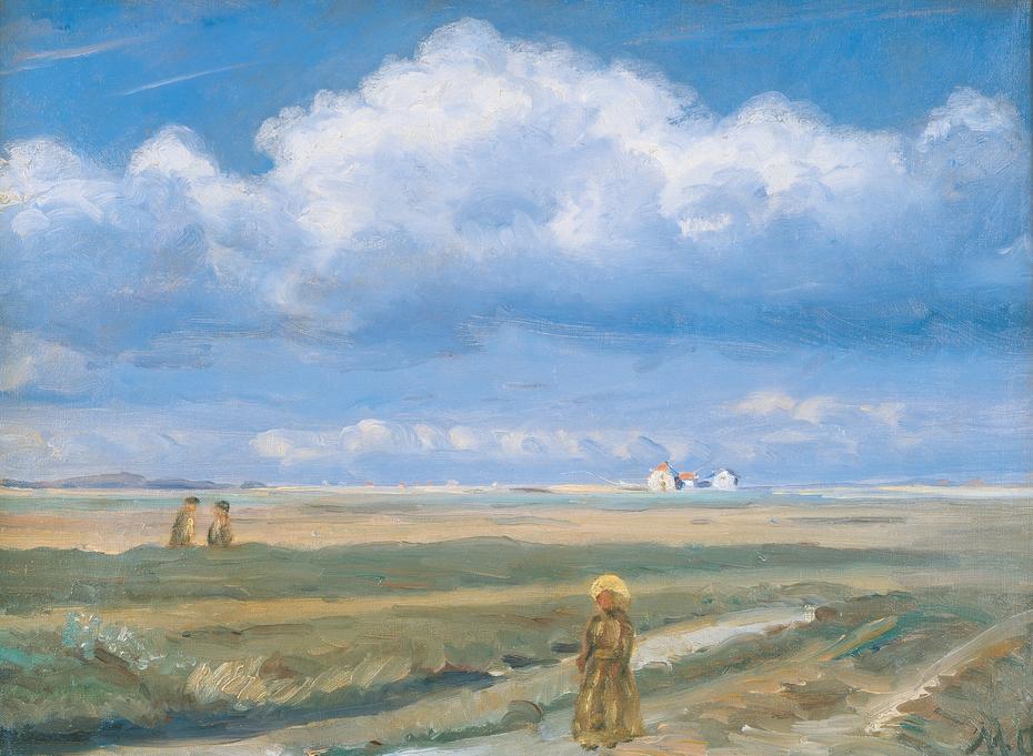 Moorland Landscape, Skagen, Figures in the Foreground