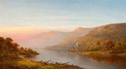 Mountain River Scene (Autumn on the Hudson)