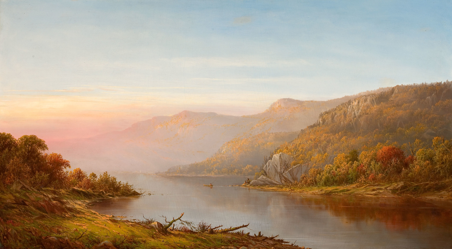 Mountain River Scene (Autumn on the Hudson)