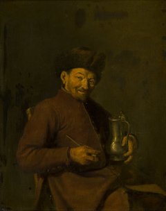 Old Man with Tankard and Pipe