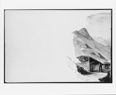 Ortler Spitz from Summit of Stelvio Pass (from Switzerland 1869 Sketchbook)