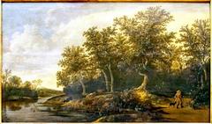 Paysage. Lisière de forêt au bord d'une rivière