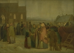 Peasants outside the Church on a Christmas Morning