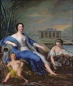 Portrait de mademoiselle de Clermont aux Eaux minérales de Chantilly