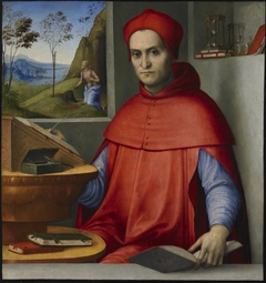 Portrait of a Cardinal in his Study