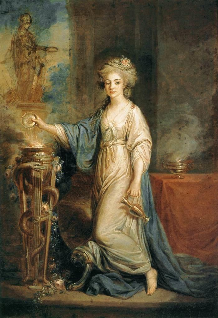 Portrait of a Woman as a Vestal Virgin