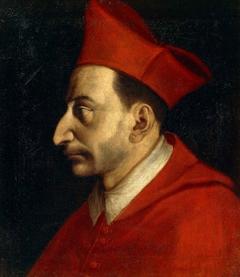 Portrait of Carlo Borromeo by Giovanni Ambrogio Figino