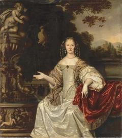 Portrait of Cornelia Reynst at a fountain