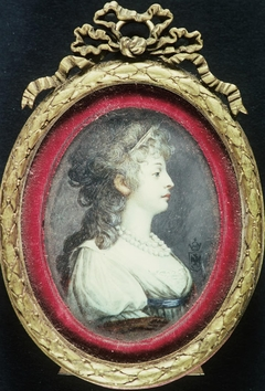 Portrait of lady in pale green dress