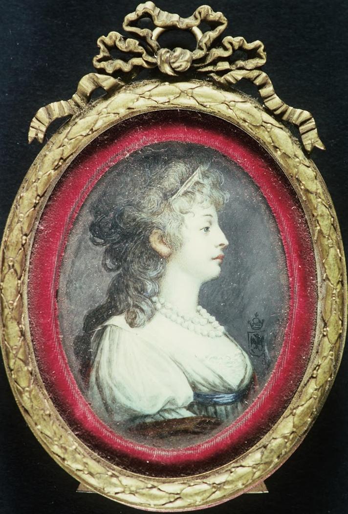 Portrait of lady in pale green dress