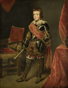 Portrait of Prince Baltasar Carlos, Son of the Spanish King Philip IV, at approximately 11 years of age