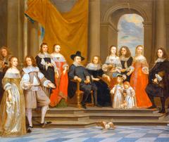 Portrait of the Family of Melchior de Stanza, with a Self-Portrait