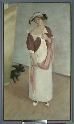 Portrait of the wife with Pusia