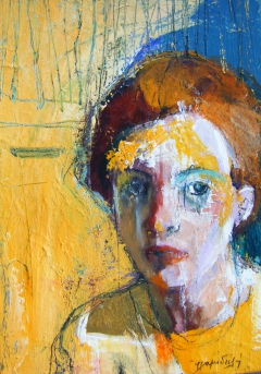 portrait with yellow