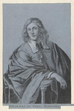 Portret van de schilder Nicolaas de Vree
