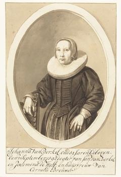Portret van Johanna van Berckel in ovaal