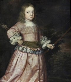 Possibly Davenport Lucy (1659/60 - 1690) with a Bow and Arrow