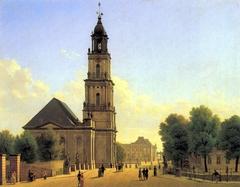 Potsdam, Garnisonkirche und Breite Brücke mit Blick auf das Stadtschloss