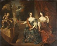 Princesses Albertina Agnes (1634 - 96) and Henrietta Catherine (1637-1708) of Orange-Nassau