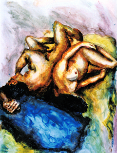 relationship of man and woman couple on bed love painting male female art men women paintings by israeli artist raphael perez