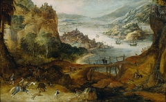 River Landscape with Boar Hunt
