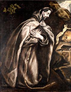 Saint Francis in Prayer before a Crucifix