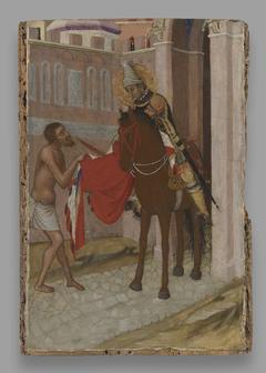 Saint Martin of Tours Dividing His Cloak with aBeggar