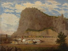 Scene of the Baltimore & Ohio Railroad and the Chesapeake & Ohio Canal at Harpers Ferry, Virginia