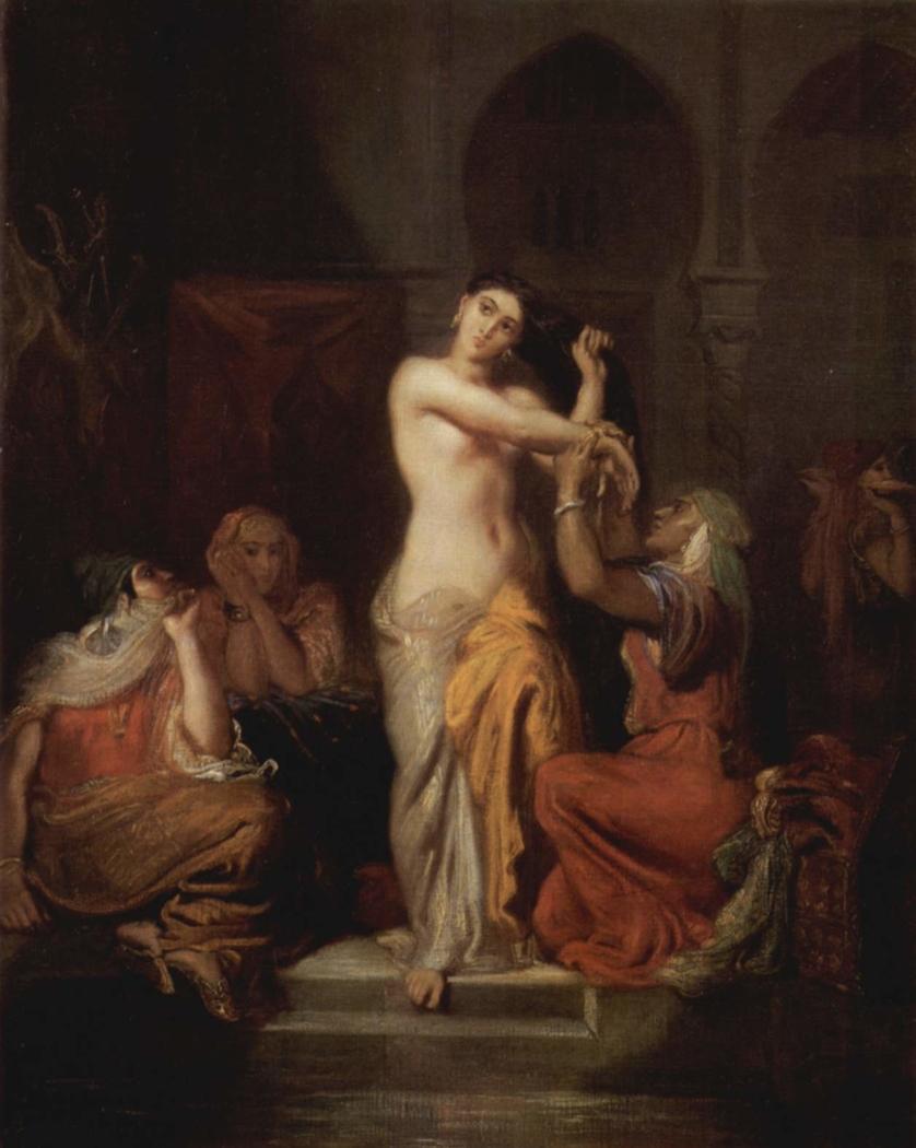 Scene of the harem, Moorish woman in bath