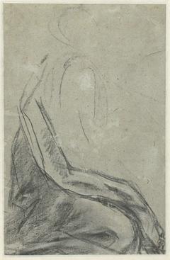 Schets van een knielende figuur