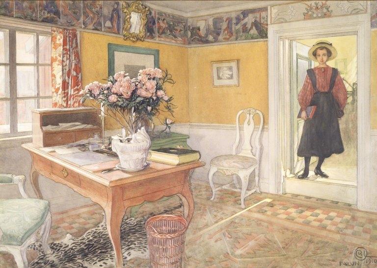 School Girl in an Interior