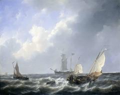 Seascape from the Zeeland Waters, near the Island of Schouwen