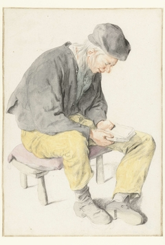 Seated Man Reading, Facing Right
