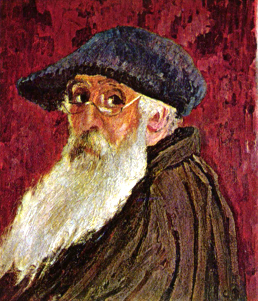 Self-Portrait with Beret and Spectacles