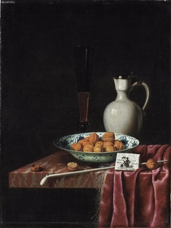 Still Life with Walnuts, Tobacco and Wine