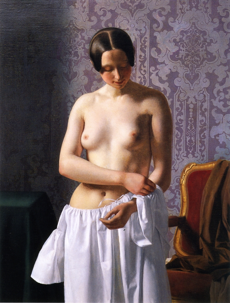 Study of a Model, Young Girl Undressing
