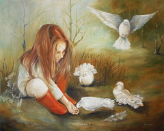THE GIRL WITH PIGEONS