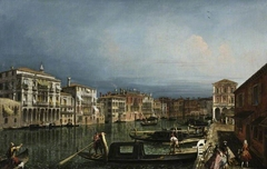 The Grand Canal, Venice, above the Rialto bridge
