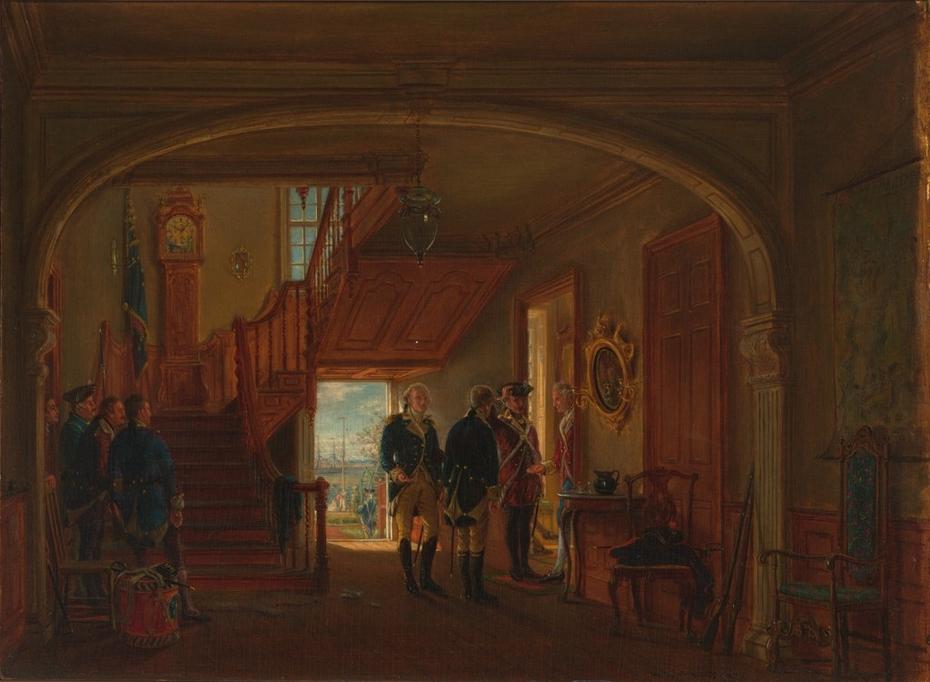 The Meeting of General Washington and Rochambeau