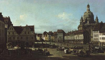 The New Market in Dresden from Moritzstraße