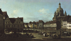 The New Market in Dresden from Moritzstraße