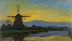 The Oostzijdse Molen by Night