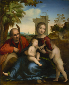The Rest on the Flight into Egypt with St. John the Baptist