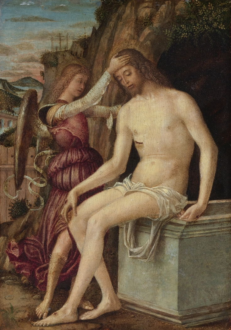 The Resurrected Christ with an Angel