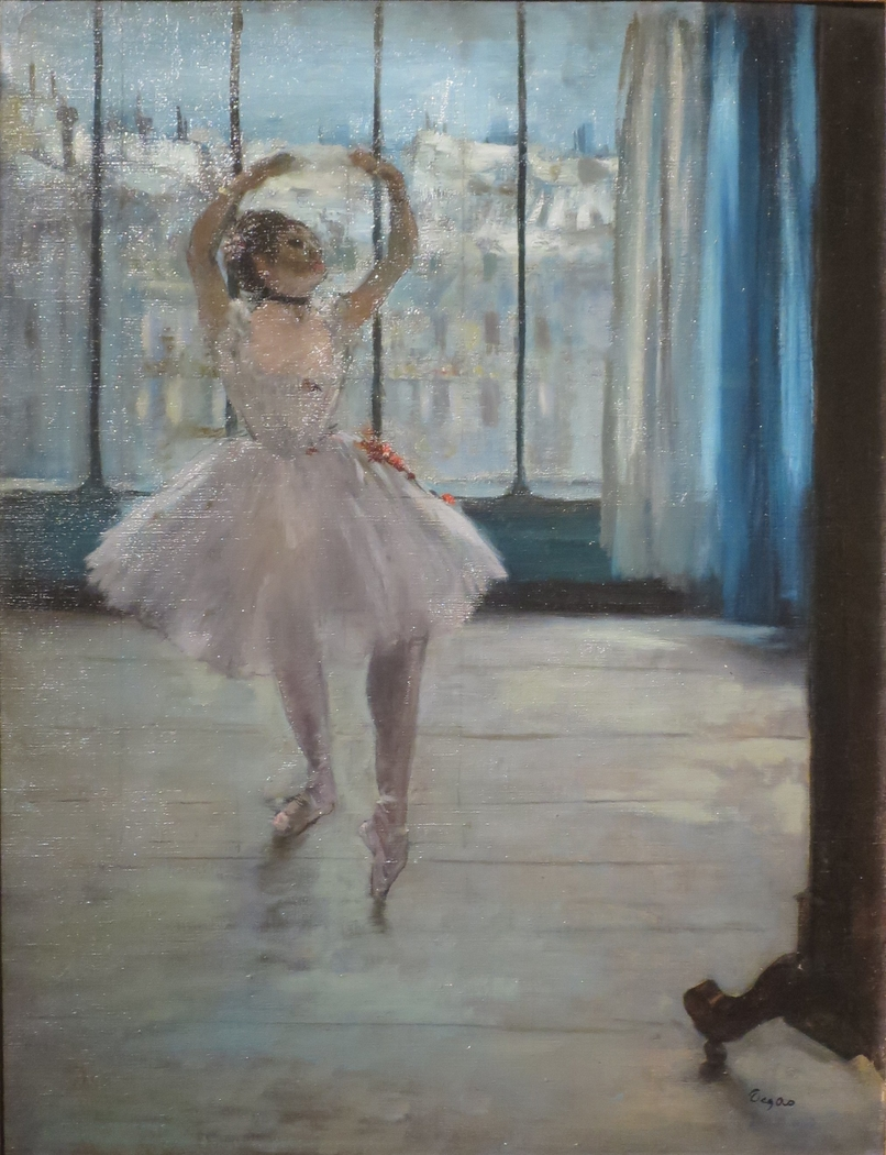 Dancer Posing for a Photographer (Dancer in Front of the Window)