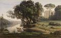 Italian Landscape (Site d'Italie, Soleil Levant)