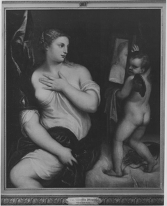 Venus and Cupid with a Mirror